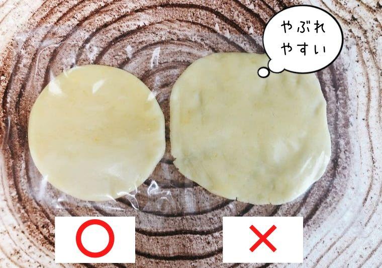 メロンパンに使うクッキー生地